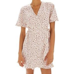 TOPSHOP Daisy Ruffle Wrap Tea Dress Size US 6